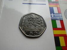 1992 50P COIN EEC UNCIRCULATED EC PRESIDENCY FIFTY PENCE SINGLE MARKET BUNC SET
