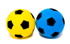 Pack of 2 E-Deals 20cm Foam Sponge Football Soft Ball Indoor Outdoor Soccer Toy