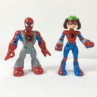 Lot of Toybiz Marvel Spiderman & Friends Spidergirl Gwen Figures
