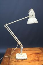 Herbert Terry Cream Anglepoise 1227 20th Century Desk Lamp Square Base Working