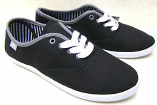 NEW CANVAS GIRLS WOMENS TRAINERS BLACK NAVY GREY SPORT PUMPS LACE UP SHOES SIZES