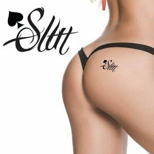 Sex Slut Queen Of Spades QOS Temporary Tattoo Fetish BBC Hotwife Lifestyle
