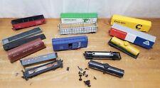 Lot of 11 HO scale model railroad train lot cars box parts or repair TLC