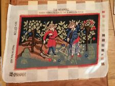 Ehrman THE REAPERS taken from design @ V&A Museum COMPLETED Tapestry Needlepoint