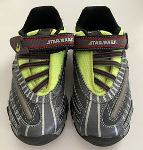 Stride Rite Boys BALANCE OF THE FORCE Star Wars LIGHT UP Gray Sneakers Size 11 W