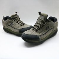 Skechers Mens Shape Ups 52000 Suede Taupe Walking Toning Shoes Size 11.5 M US