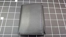 """Genuine Leather """"IDENTITY THEFT PROTECTION"""" TRI-FOLD WALLET BLACK BRAND NEW"""
