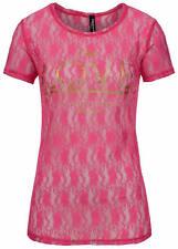 50% OFF B15030299 Damen Madonna T-Shirt Spitze Allover TrueLove Print vorne pink
