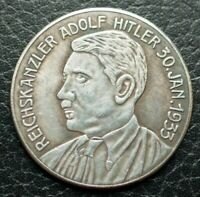 GERMAN COMMEMORATIVE COIN THIRD REICH WW2 ADOLF HITLER 1933 REICHSKANZLER