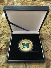 Palau Pacific Wildlife Blue Swallowtail Butterfly 5$ 2008 Proof Coin