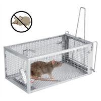 Piège à Rats Cage Argente Petits Rongeur Souris Contrôle Appâts Capture Kit