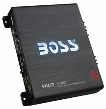 Boss Riot 1100W Monoblock Class A/B Car Amplifier And Sub Bass Remote | R1100M