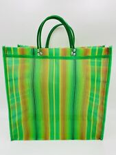"""Mexican Market Mesh Bag Rausable Tote Bolsa De Mercado 15"""" Green Verde"""