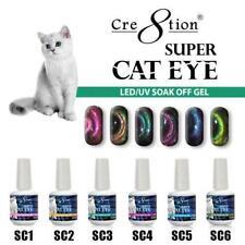 Cre8tion Super Cat Eye Collection LED/UV Soak Off Gel - Set of 6 colors + Magnet