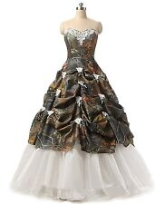 Sweetheart  Appliques Camo Wedding Dresses  Ball Gown Camouflage Bridal Gown