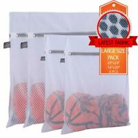 Extra Large Heavy Duty Mesh Wash Laundry Bag- Pack of 4 (2 Extra Large + 2 Large