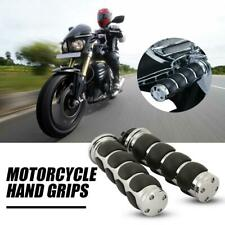 "Chrome Black Throttle 7/8"" Bar Hand Grips For Honda Suzuki Kawasaki Yamaha"