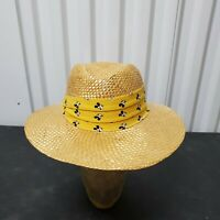 VTG Disney Mickey Mouse Straw Hat Character Fashions Adult Size OSFA