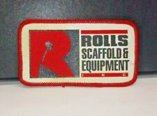 VINTAGE ADVERTISING PATCH ROLLS SCAFFOLD & EQUIPMENT CA