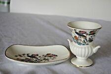 Wedgewood Kutani Crane Small Urn Vase and Pin Dish
