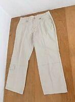 Columbia Women Khaki Sport Cargo Slacks Pants Sz 14 Beige Leg Pocket Stretch