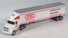 "Ertl White GMC Aero HWI Hardware Semi Truck 10.75"" Diecast 1:64 Scale Model HTF"