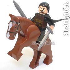 NEW Lego Three Kingdoms Custom Liu Bei Minifig & Horse 三国の劉備 雙股劍 と 的蘆 NEW