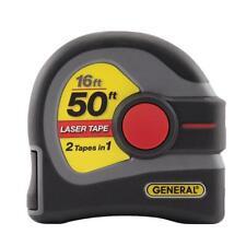 General Tools 16 Ft Laser Tape Measure 50 Ft Distance Measurer Battery Operated