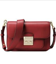 Authentic Michael Kors Sloan Editor Burnt Red Large Shoulder Bag NWT SOLD OUT