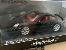 VERY RARE MINICHAMPS 1/43 PORSCHE 911 TURBO NEW BOXED 1 OF 1008