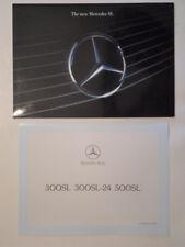 MERCEDES BENZ SL orig 1989 UK Mkt Sales Brochure + Specs - 300 300-24 500 R129