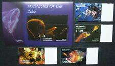 St. Vincent 2005 Raubfische Fische Fishes Poissons Pesci 6160-63 + Bl.649 ** MNH