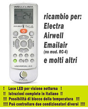 Telecomando per condizionatore Electra Airwell Emailair climatizzatore inverter