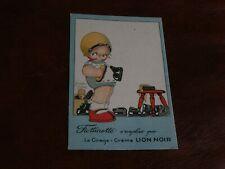 ORIGINAL BEATRICE MALLET SIGNED ADVERTISING CHILDREN POSTCARD, LION NOIR, POLISH