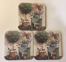 New ListingThree Longaberger Coasters With A Topiary Tree And Lovely Table.