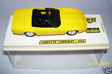 SOLIDO CHEVROLET CORVETTE CABRIOLET JAUNE IN BOX  1/43