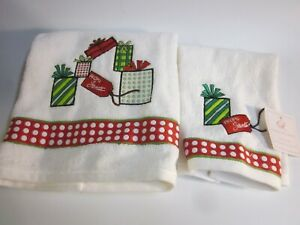 Christmas Bath Towel Set of 2   Ridgefield Home by HomeGoods  New with Tags