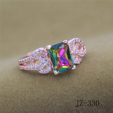 925 Rose Gold Plated Women/Men NEW Fashion Ring Gift SIZE OPEN H04