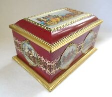 Klann Quality Tin Hinged Red & Gold Box West Germany