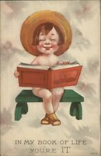 IN MY BOOK OF LIFE YOU'RE IT - Cute Kid on Bench w/ Sun Hat Bernhardt Wall?