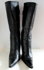 NCI black mid-calf boots women Eur 37 US-Aus 6.5 UK 4.5 Used from Italy