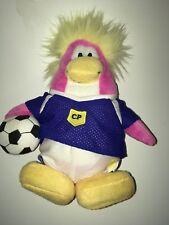 "Disney Club Penguin Soccer Player Penguin    8"" Plush Stuffed Animal"