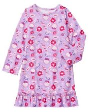 NWT Gymboree Girls Cupcake Candy Shop Nightgown Gymmies Pjs Long Sleeve L 10 12