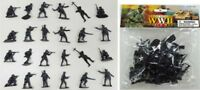 AIRFIX COPIES WWII German Infantry Paratroopers Playset 24 Gray 1/32 FREE SHIP