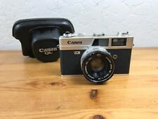 Vintage Canon Canonet QL19 45mm 1:1.9 Film Camera Leather Case Made In Japan