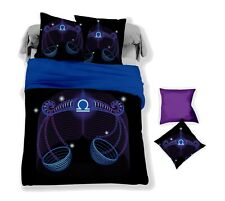 3D Libra Constellation Black Quilt Cover Set Bedding Duvet Cover Pillow