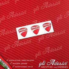 3 Adesivi Resinati Sticker 3D Ducati Corse New Red micro 10 mm