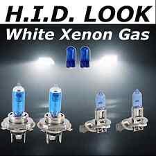 H4 H3 501 60/55w 472 453 White Xenon HID Look Headlamp Dip Beam Fog Beam Bulbs