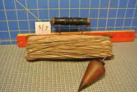 Vintage Plumb Bob with old wooden Winder Very Old