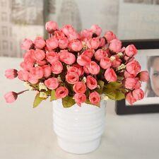 Hot Silk Fake Flowers Leaf Bouquet Leaf Peony Artificial Party Wedding Decor